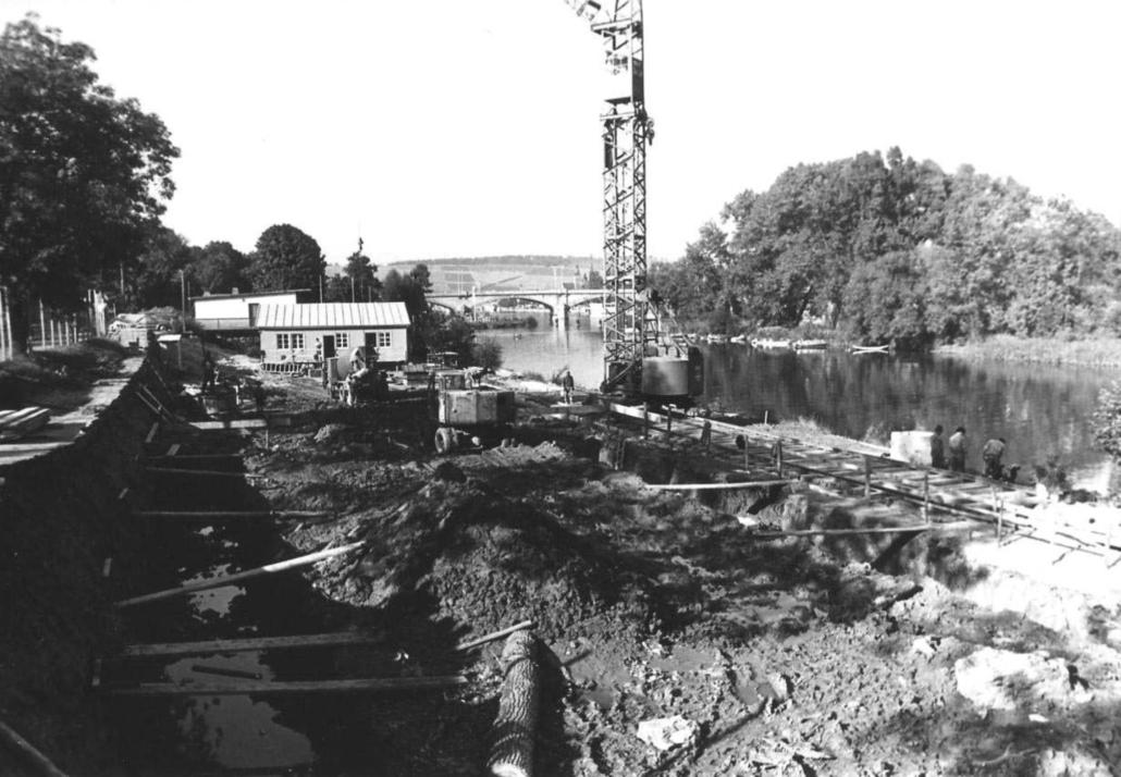 1964 - Baustelle der Schwimmhalle in der Mergentheimer-Strasse | SVW05